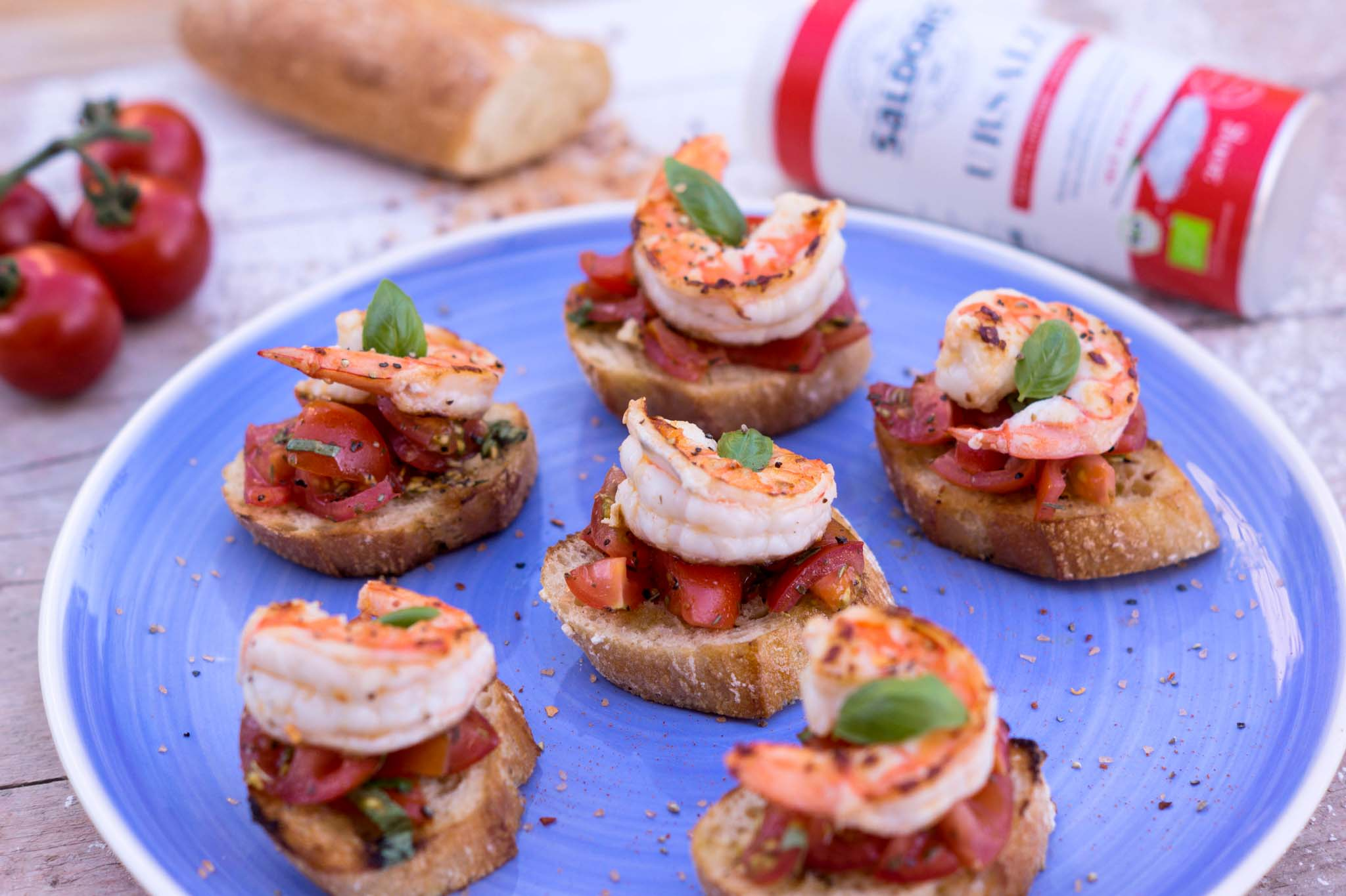 Bruschetta mit Chili-Landgarnelen Foto: Flavoured with love